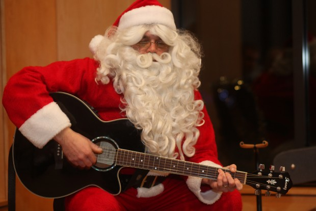 Mrs. Claus told him she wouldn't buy him a guitar for Christmas. Know what he did? He bought one for himself.